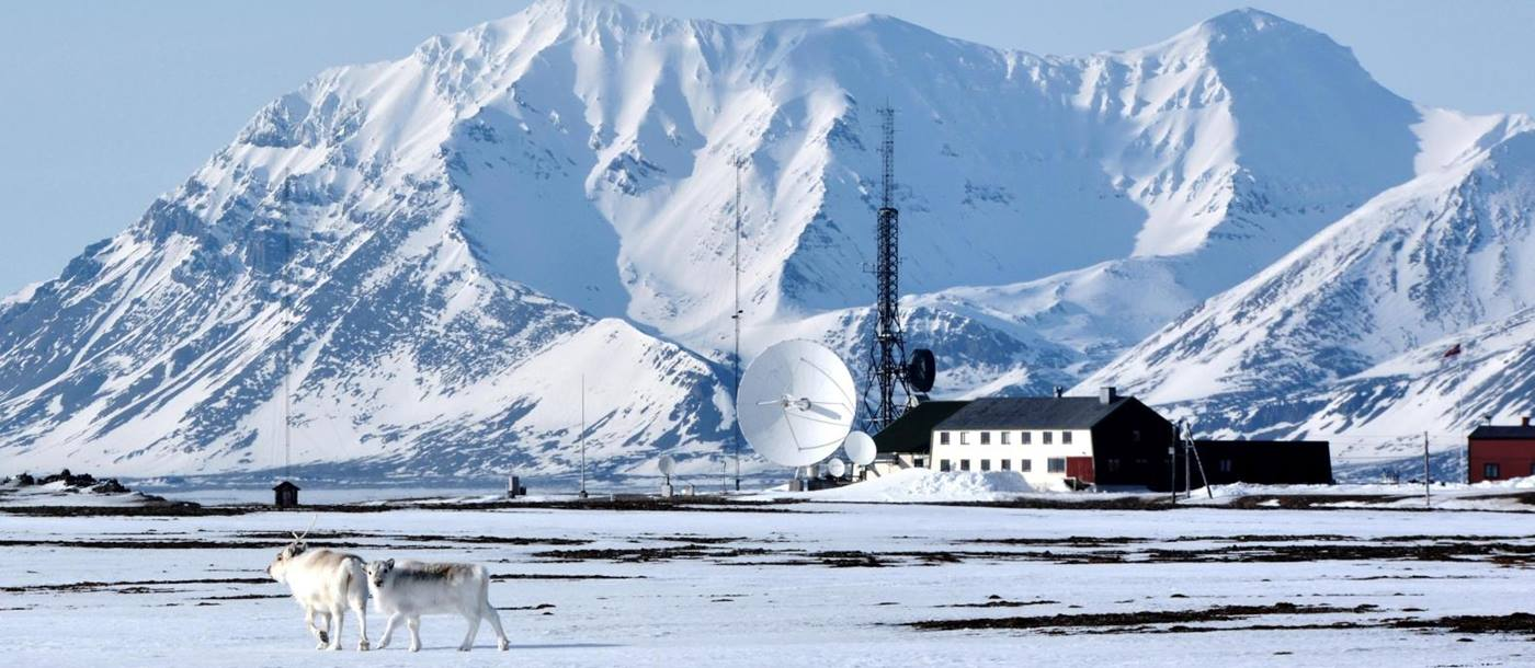 Winter at Basecamp Isfjord Radio Adventure Hotel in Svalbard Norway