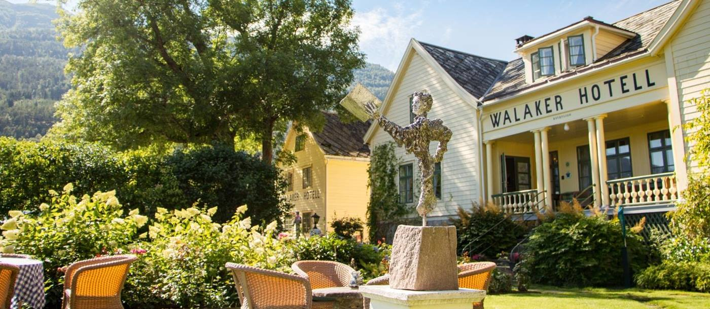 Outdoor view of Walaker Hotel in Norway