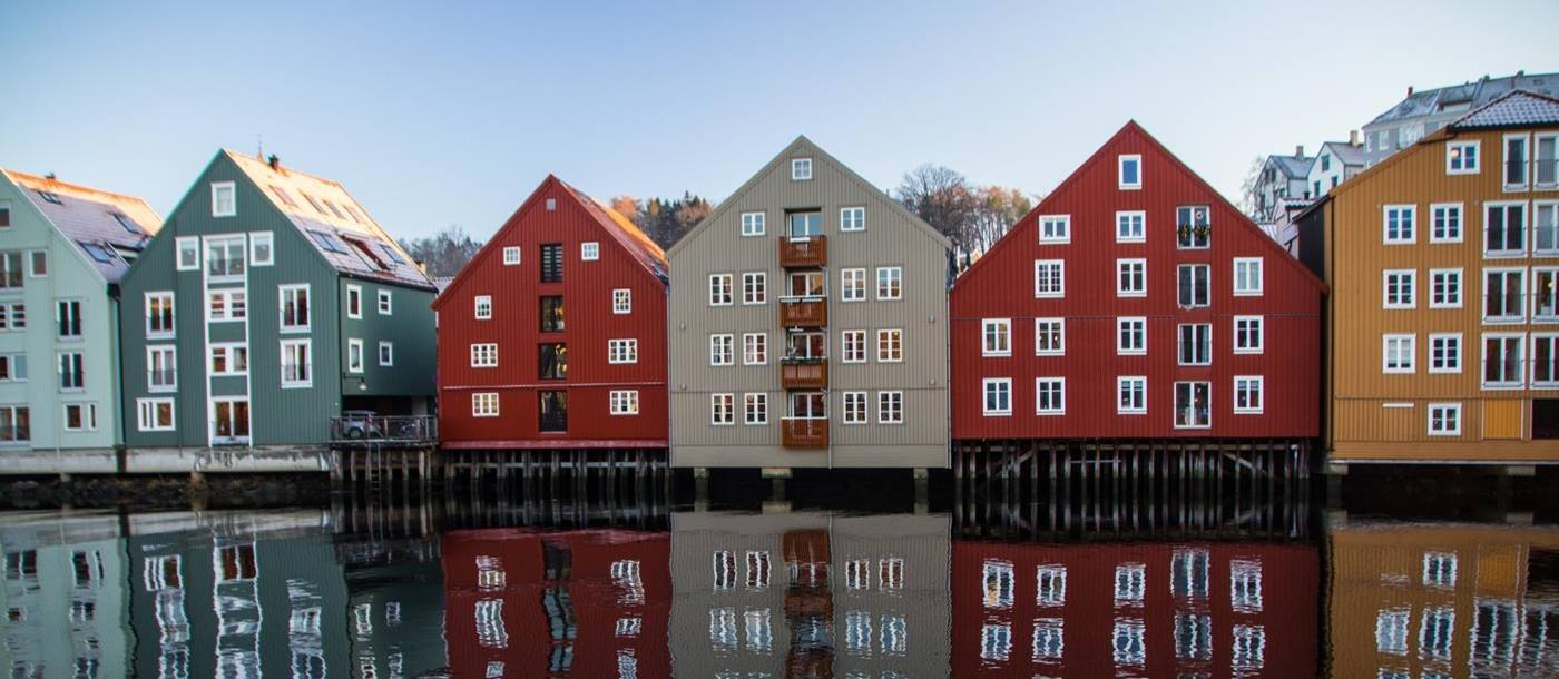 Trondheim houses in Norway