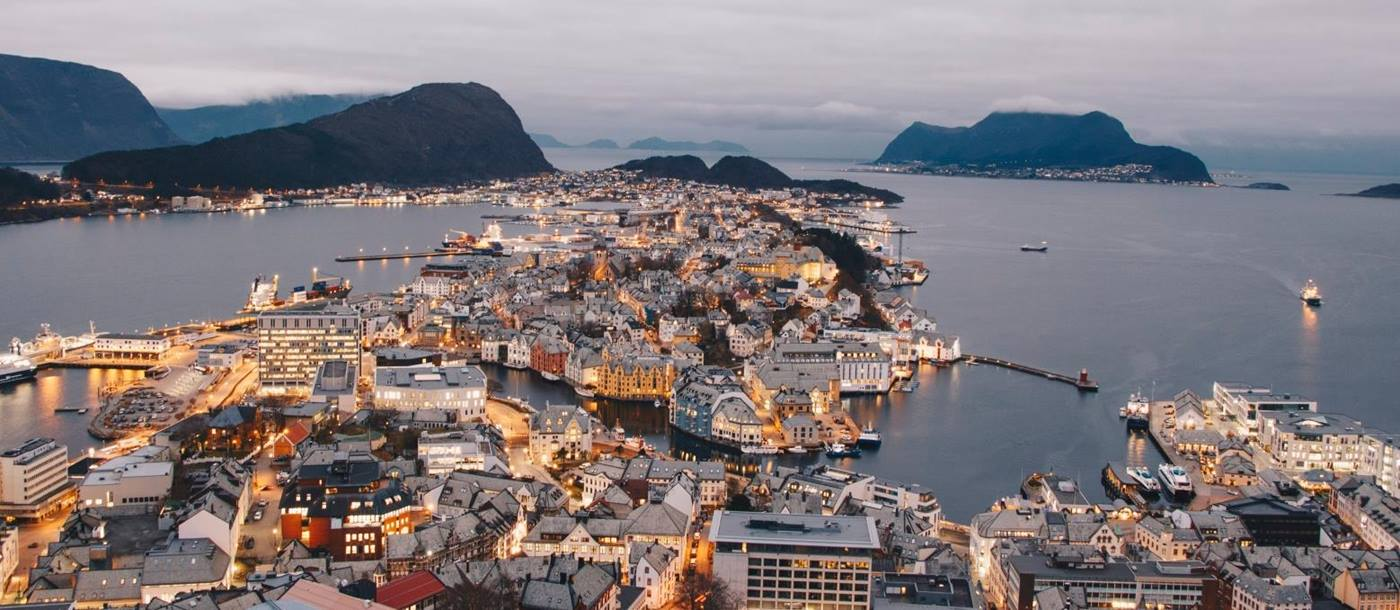 Alesund city view in Norway