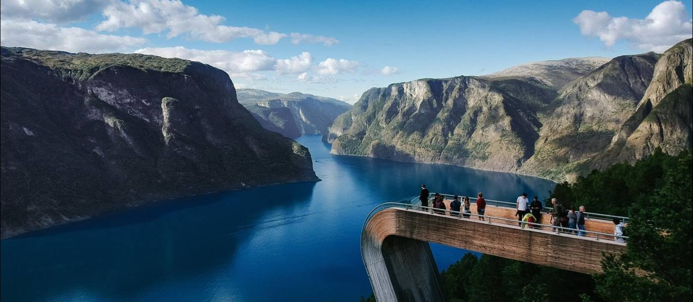 Lookout from Aurland in Norway