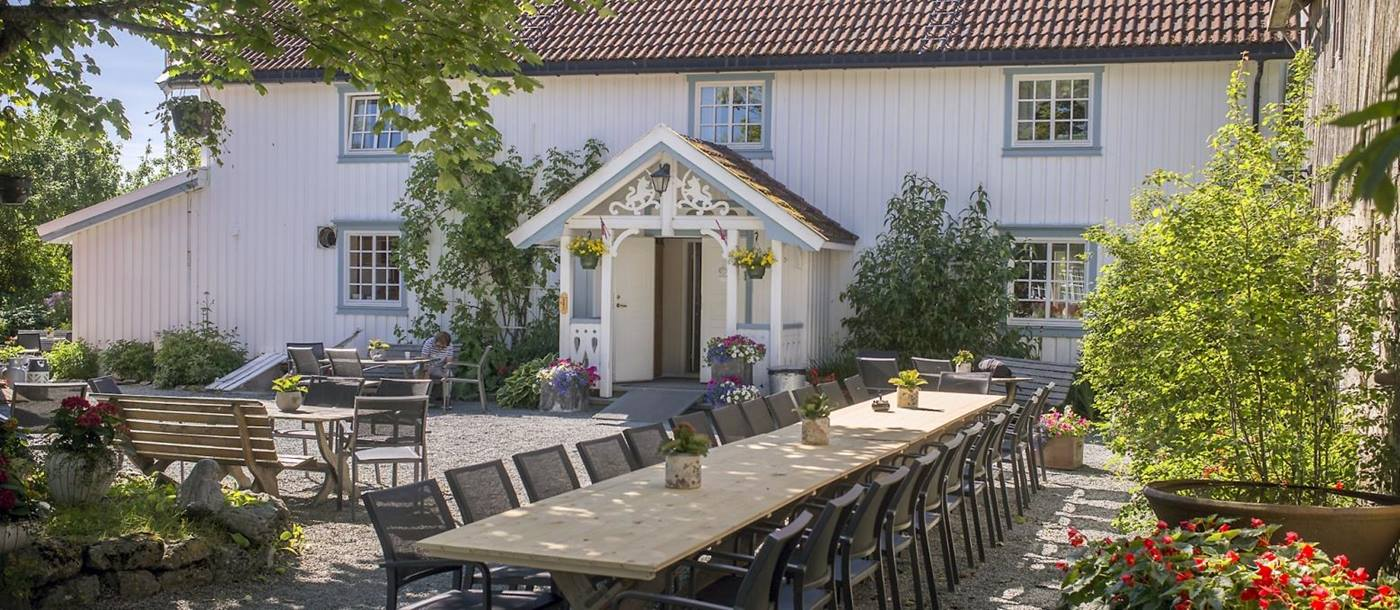 Outdoor dining in Norway