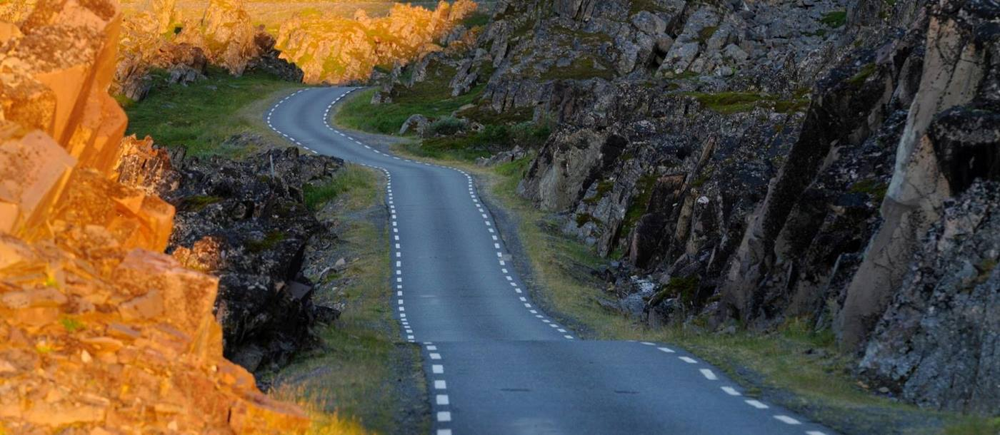 Road to Hamningberg in Norway