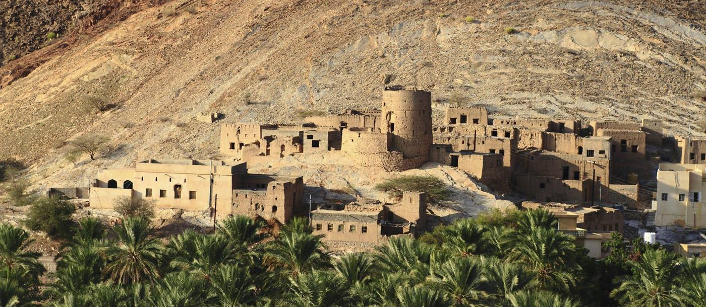 The abandoned village of Birkat Al Mawz in Oman
