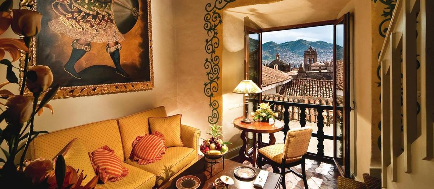 Lounge at elmond Monasterio in Peru
