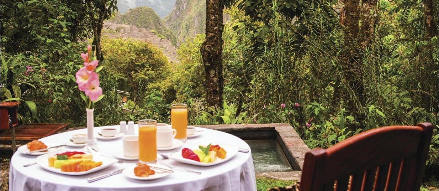 Dining at Belmond Sanctuary Lodge in Peru