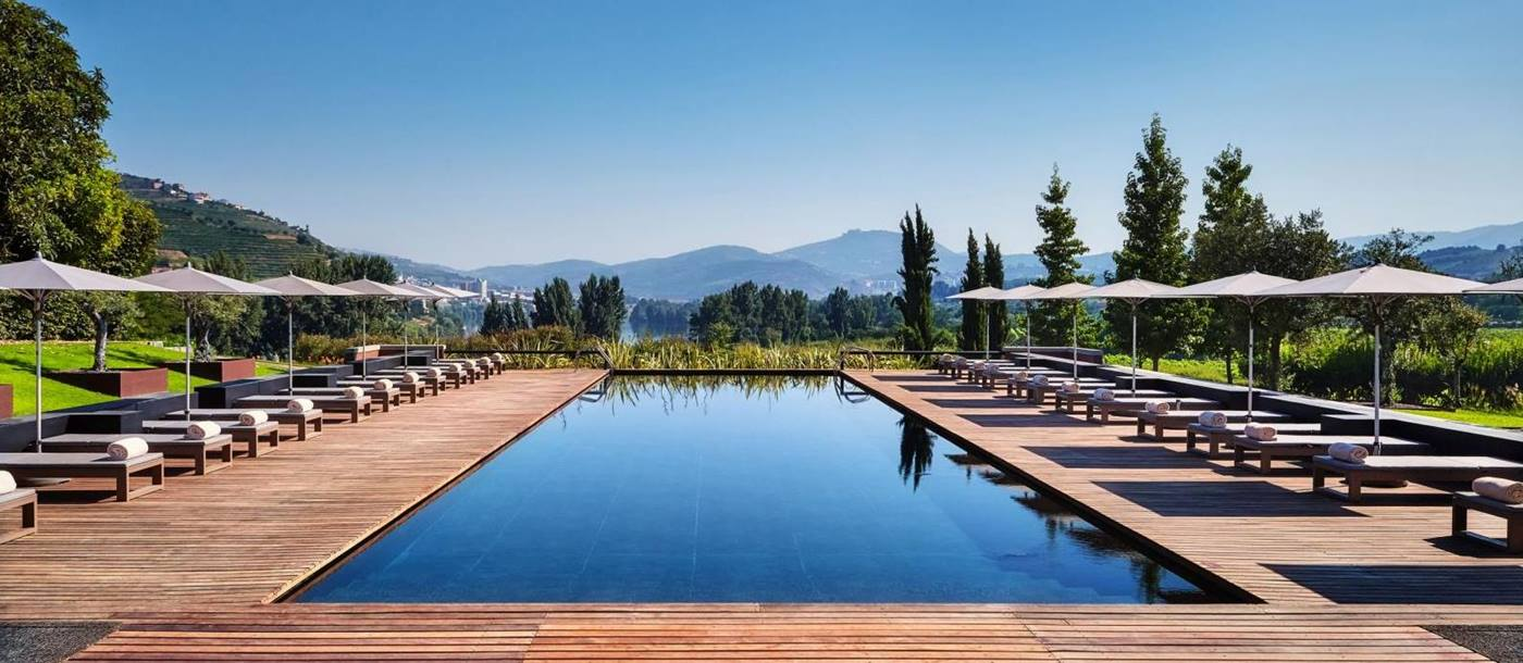 Swimming pool of Six Senses Douro, Portugal