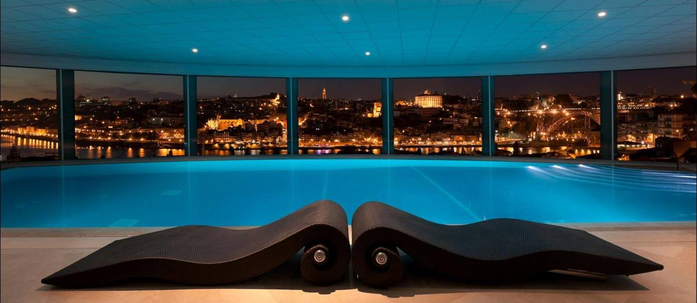 Indoor swimming pool of the Yeatman, Portugal