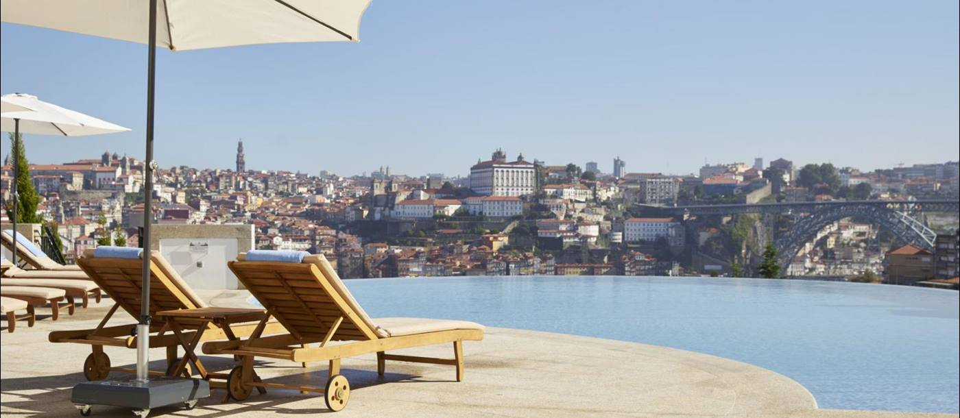 Swimming pool of the Yeatman, Portugal