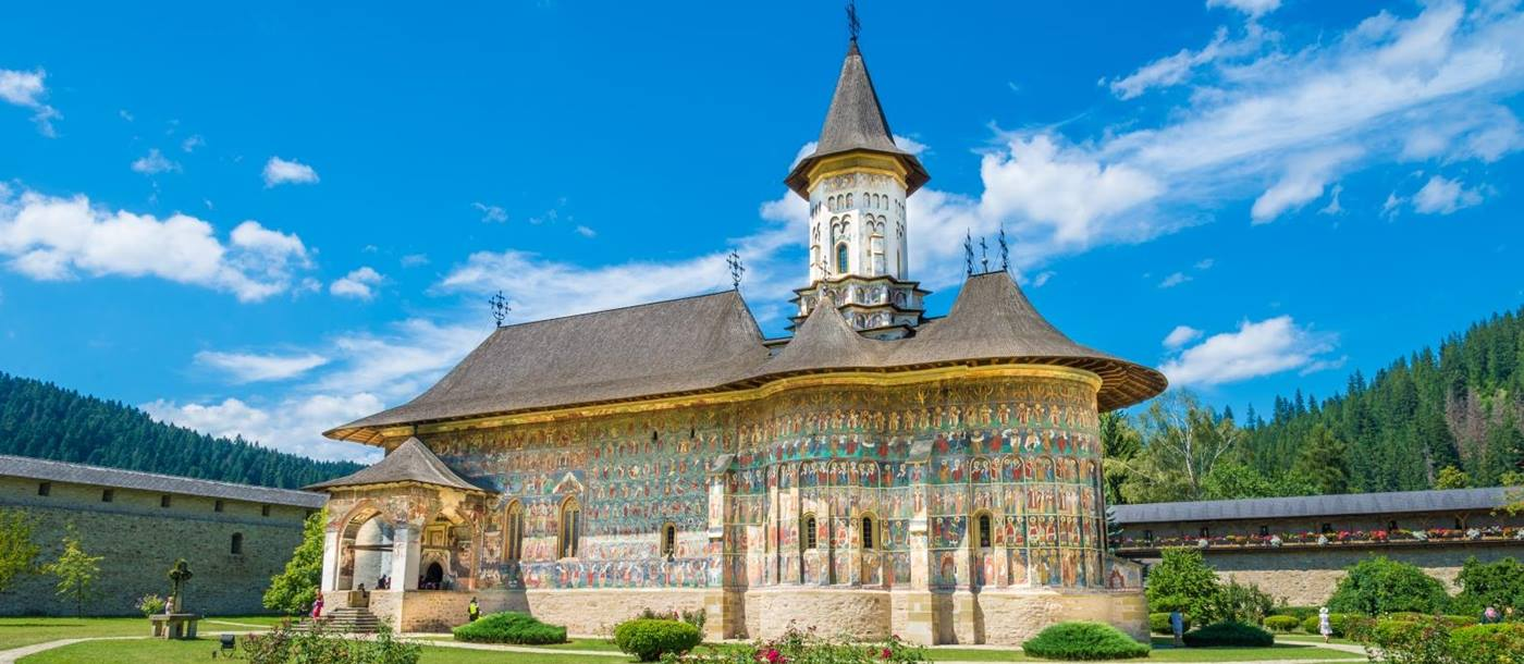 Moldovita Painted Monastery in Romania