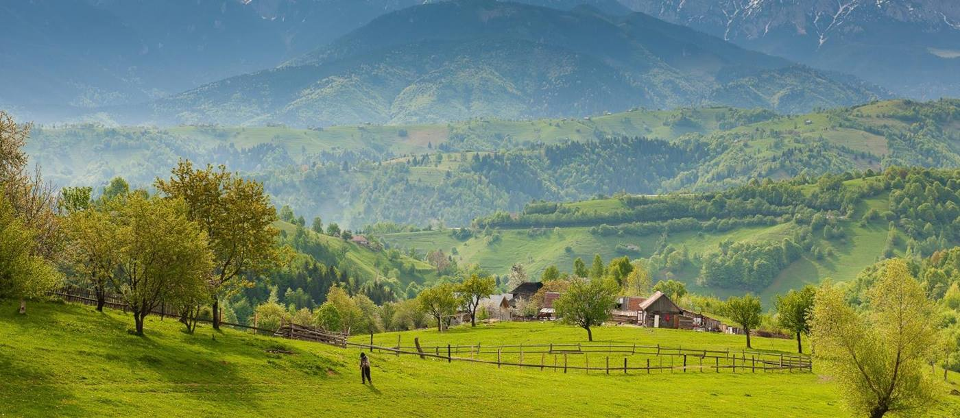 Traditional countryside in Maramures in Romania