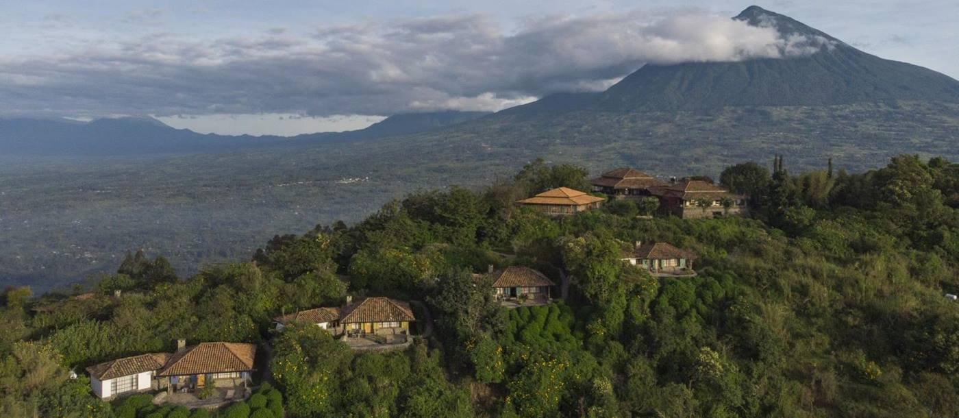 Birds eye view of Virunga Lodge in Rwanda