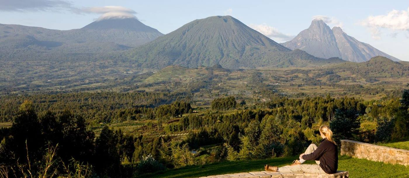 Scenic view at Virunga Lodge in Rwanda