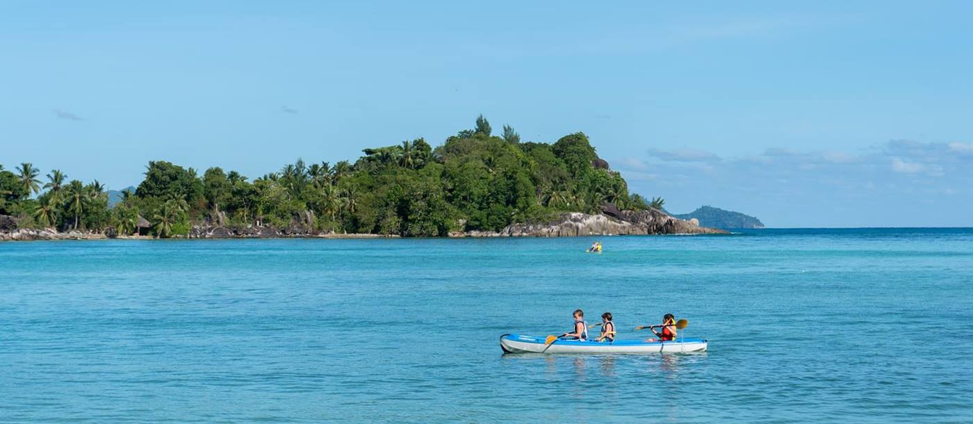 kayaking at Constance Ephelia Resort, Seychelles