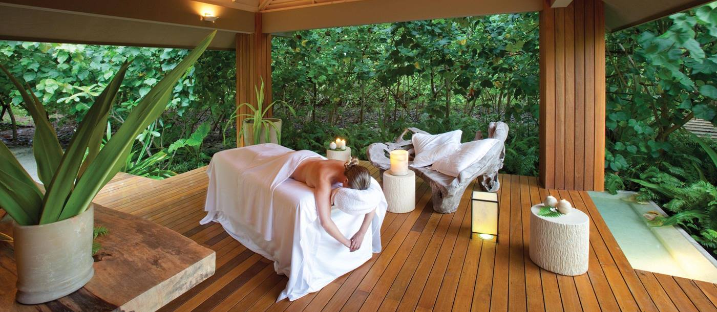 The Madam Zabre Spa at Desroches, Seychelles