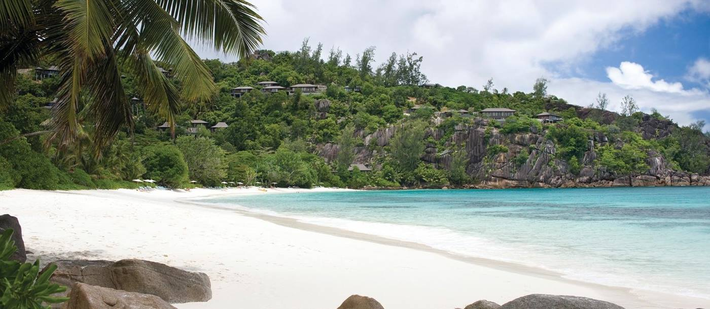 the beach at Four Seasons Resort, Seychelles