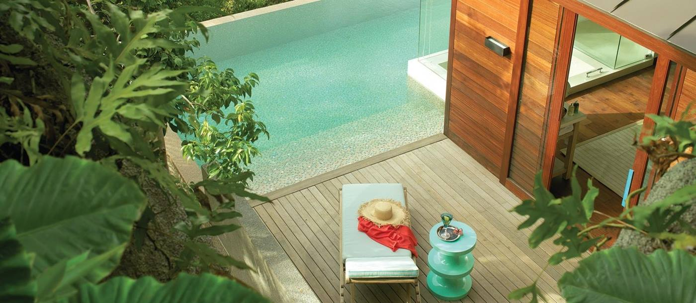 private pool of Four Seasons Resort, Seychelles