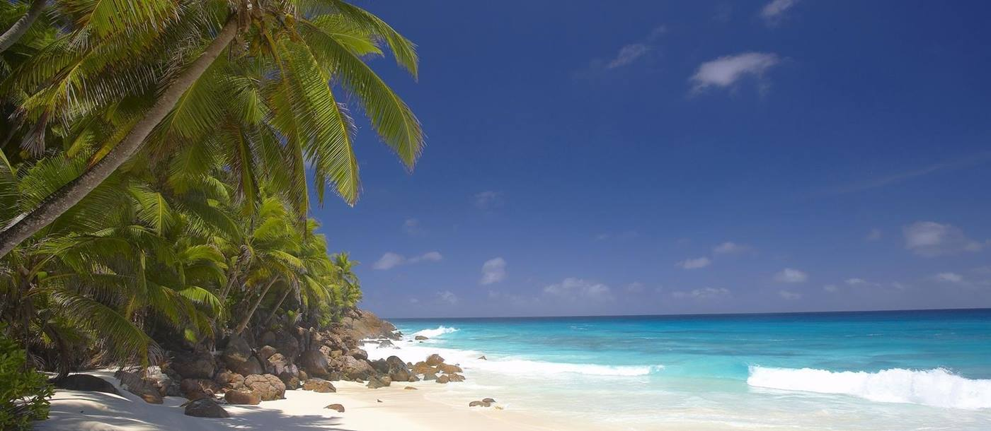 beach at Fregate Island, Seychelles