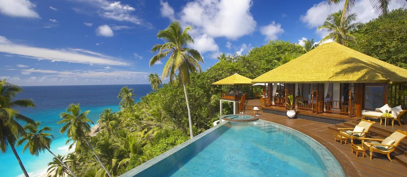 private pool at Fregate Island, Seychelles