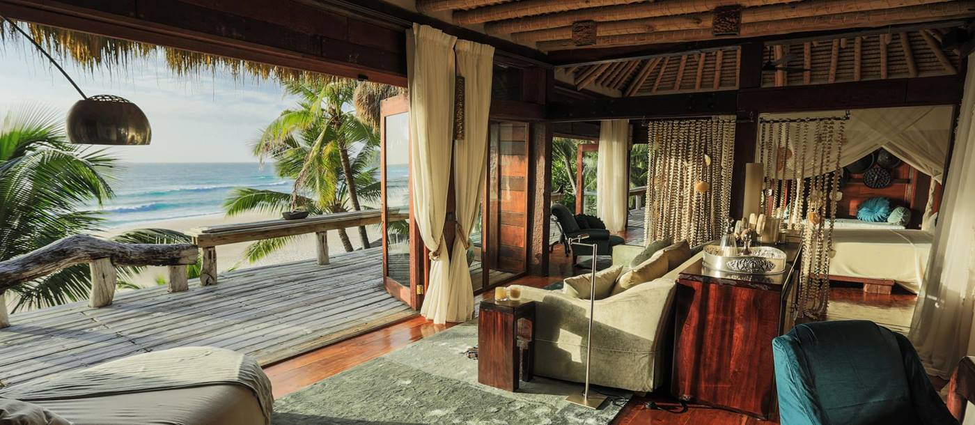 A double bedroom at North Island, Seychelles