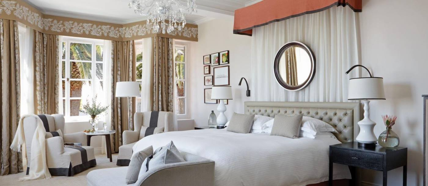 Bedroom interior at Belmond Mount Nelson in South Africa