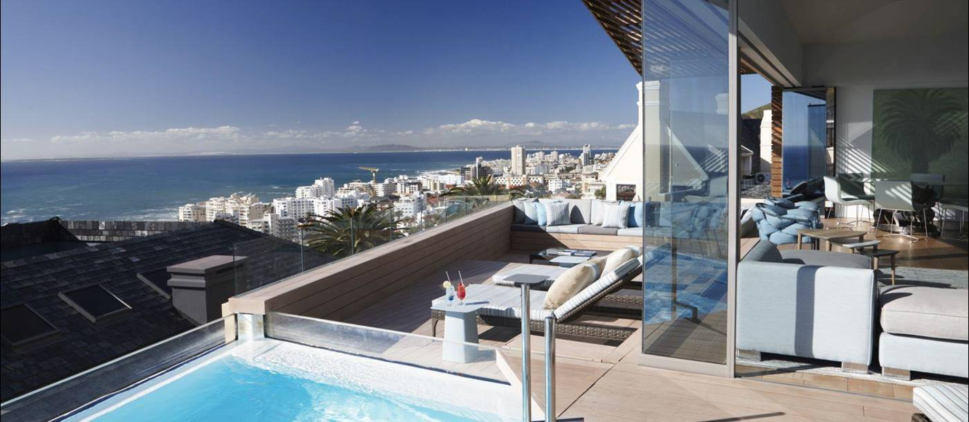 Villa two pool deck at Ellerman House in South Africa
