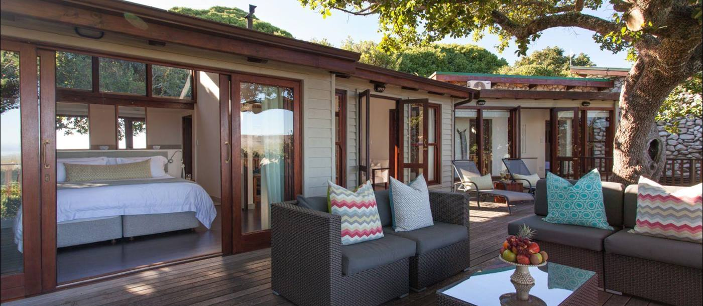 Deck at Grootbos Garden Lodge in South Africa