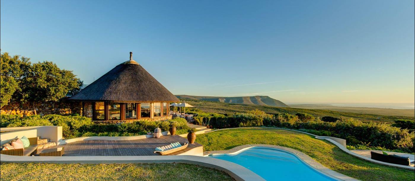 Pool at Grootbos Garden Lodge in South Africa