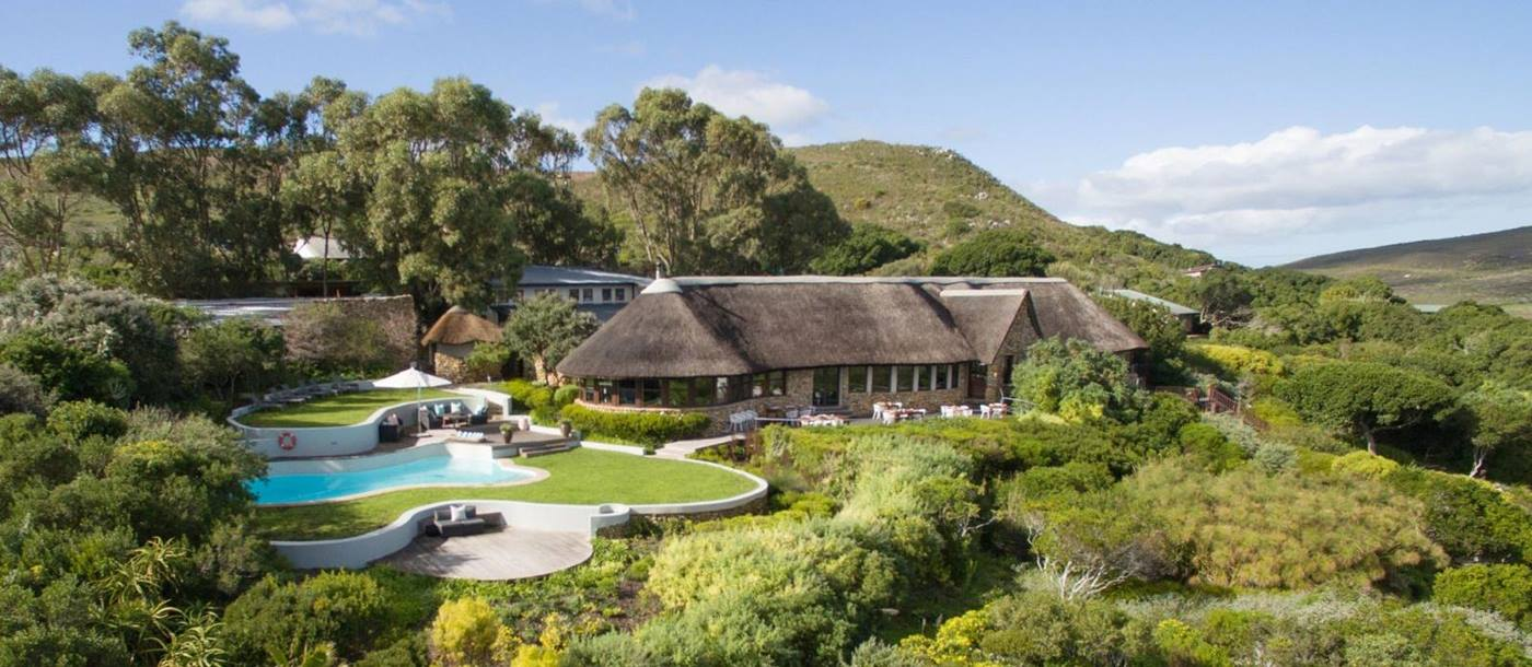 External view of Grootbos Garden Lodge in South Africa