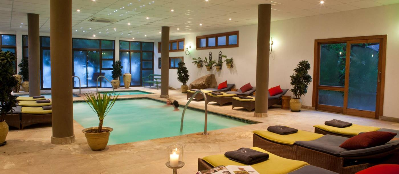 The indoor pool at Karkloof Reserve