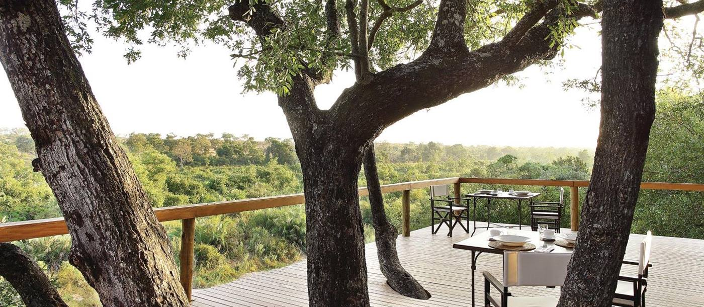 View from deck at Londolozi Tree Camp in South Africa