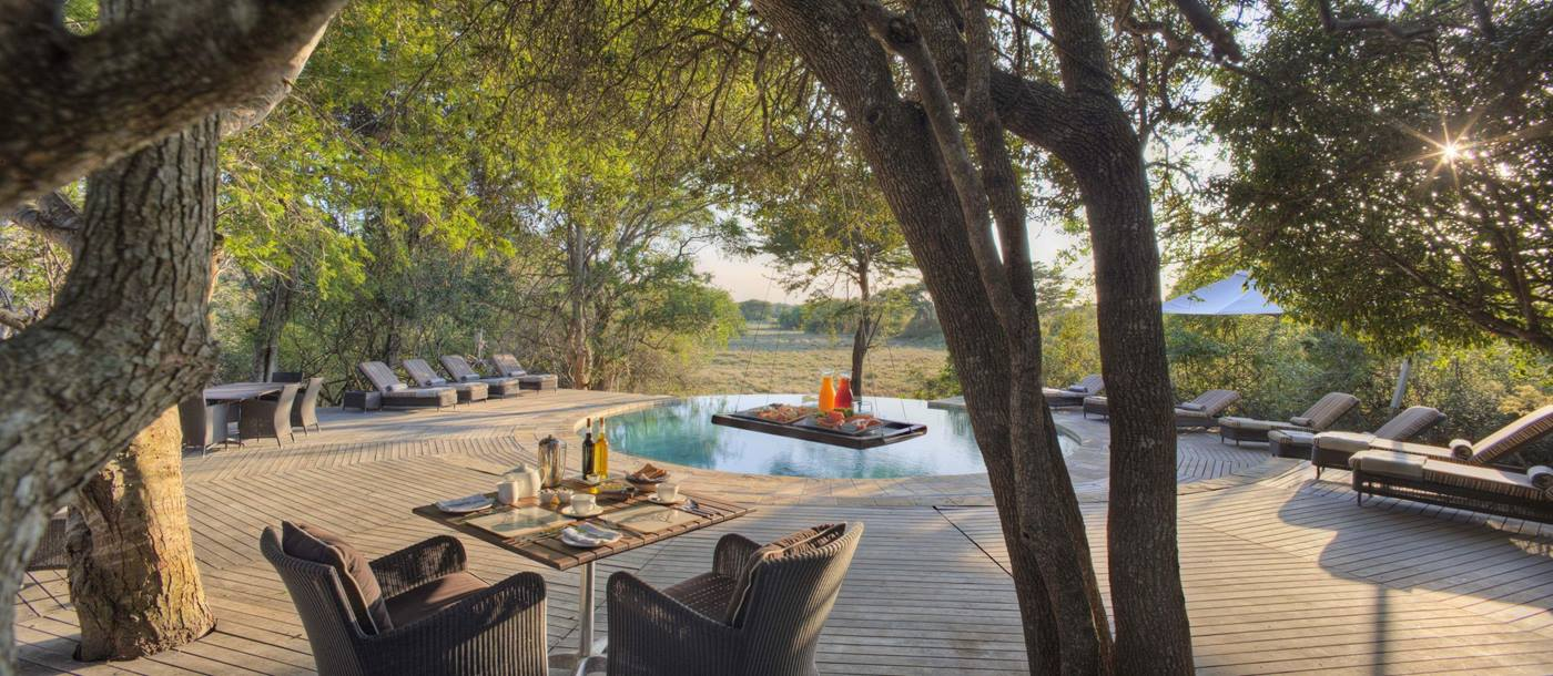 The pool at Phinda Forest Lodge