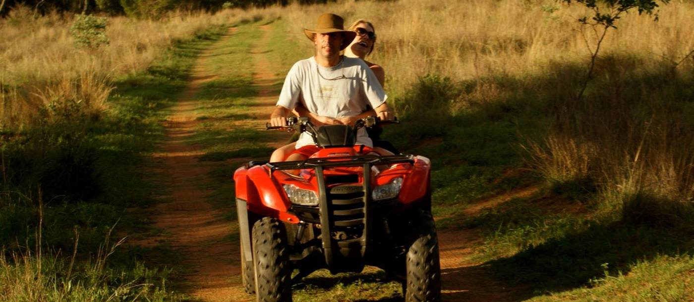Quad biking at Leobo private reserve