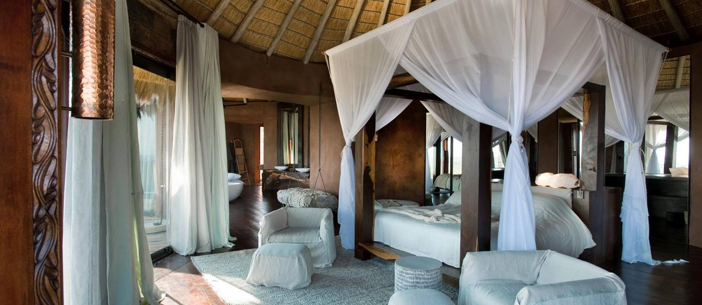 The master bedroom in Leobo the Observatory, South Africa