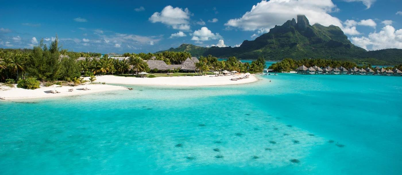 The beach at St Regis Bora Bora