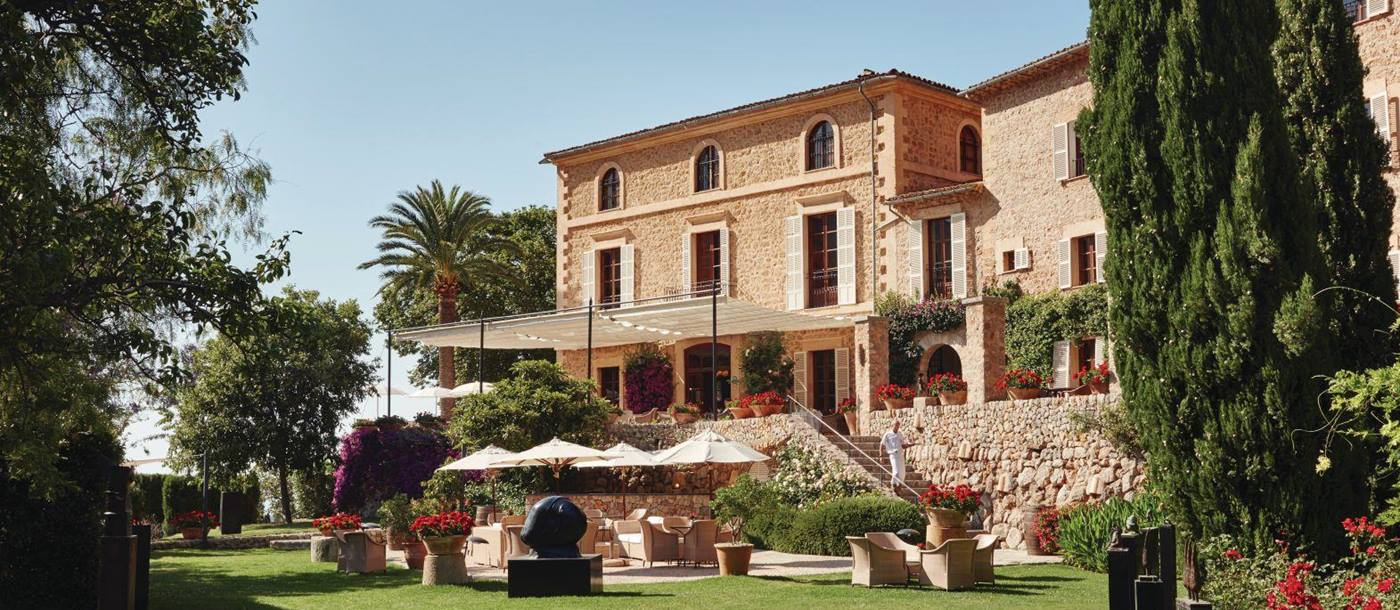Exterior and grounds of Belmond La Residencia hotel in Mallorca