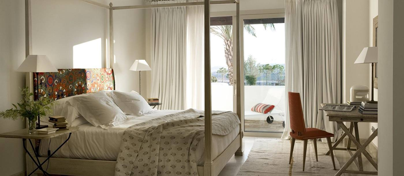 Double bedroom of a private villa in Finca Cortesin, Spain