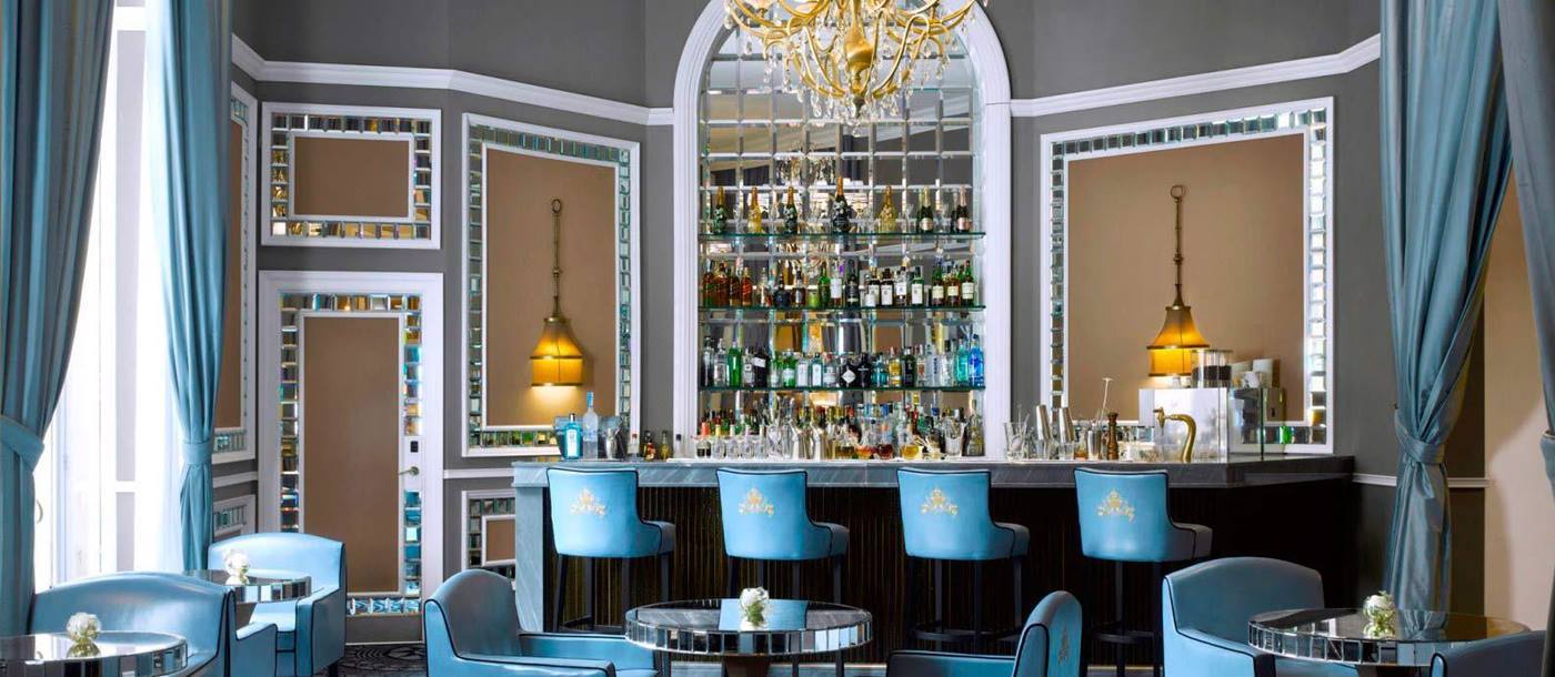 Blue bar at Hotel Maria Cristina in Spain