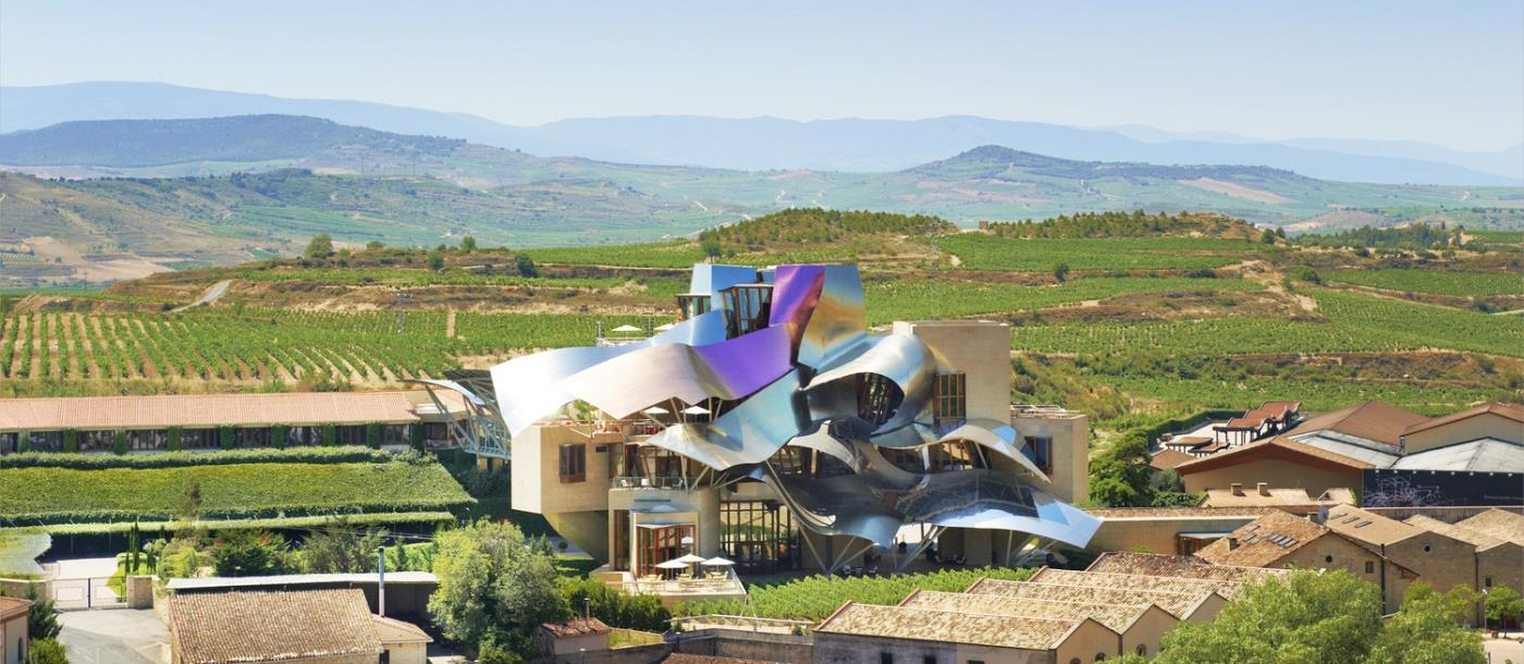 Aerial view of Hotel Marques de Riscal in Spain