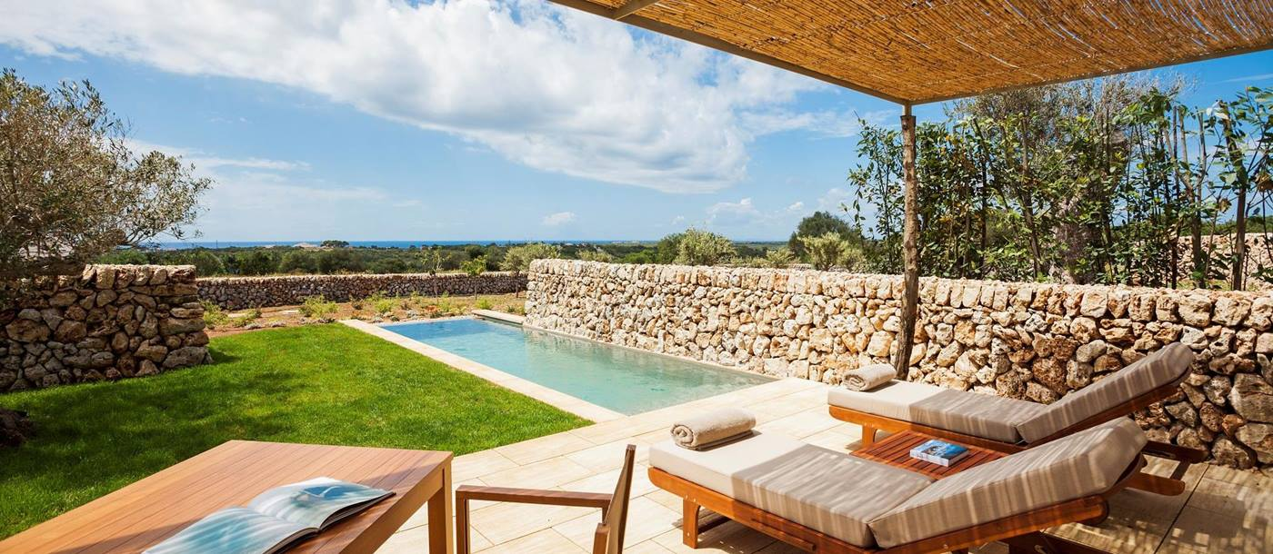 The pool cottage of Hotel Torralbenc, Spain