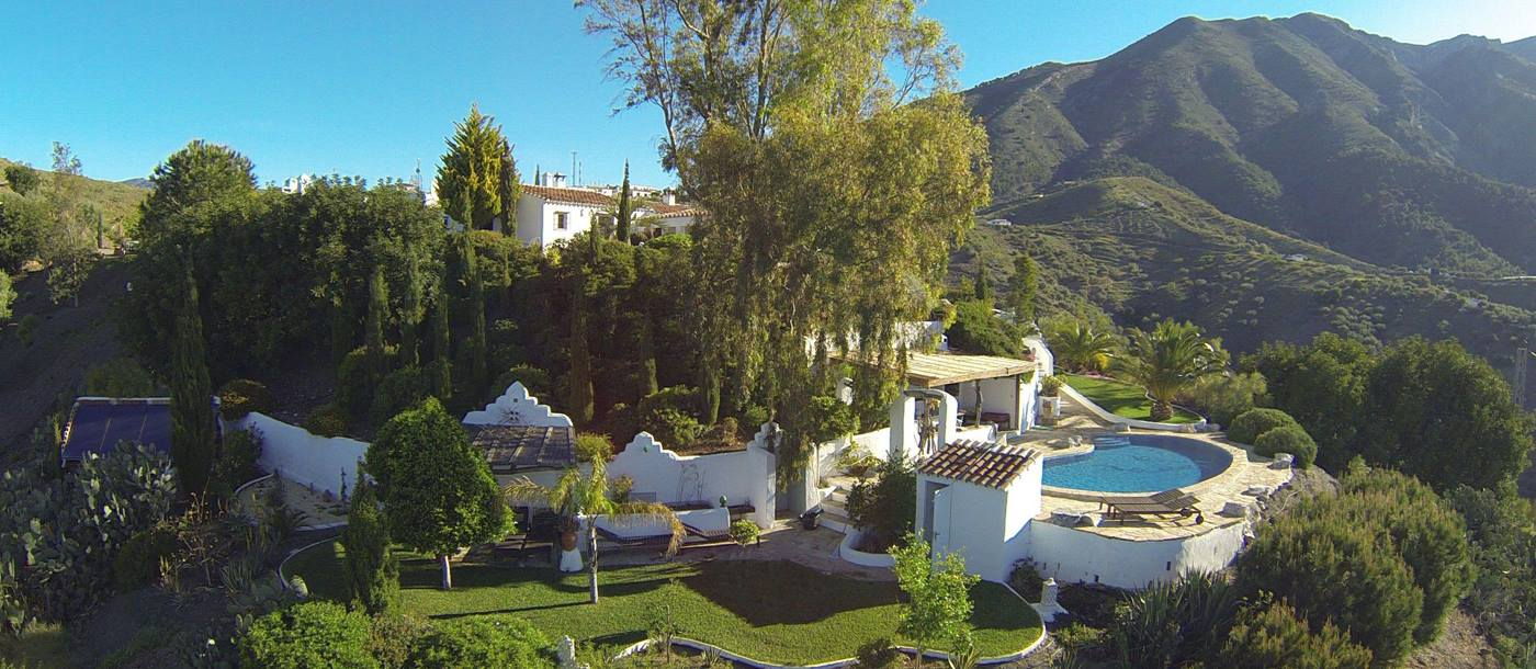 The exteriors and grounds of El Cortijo, Andalucia