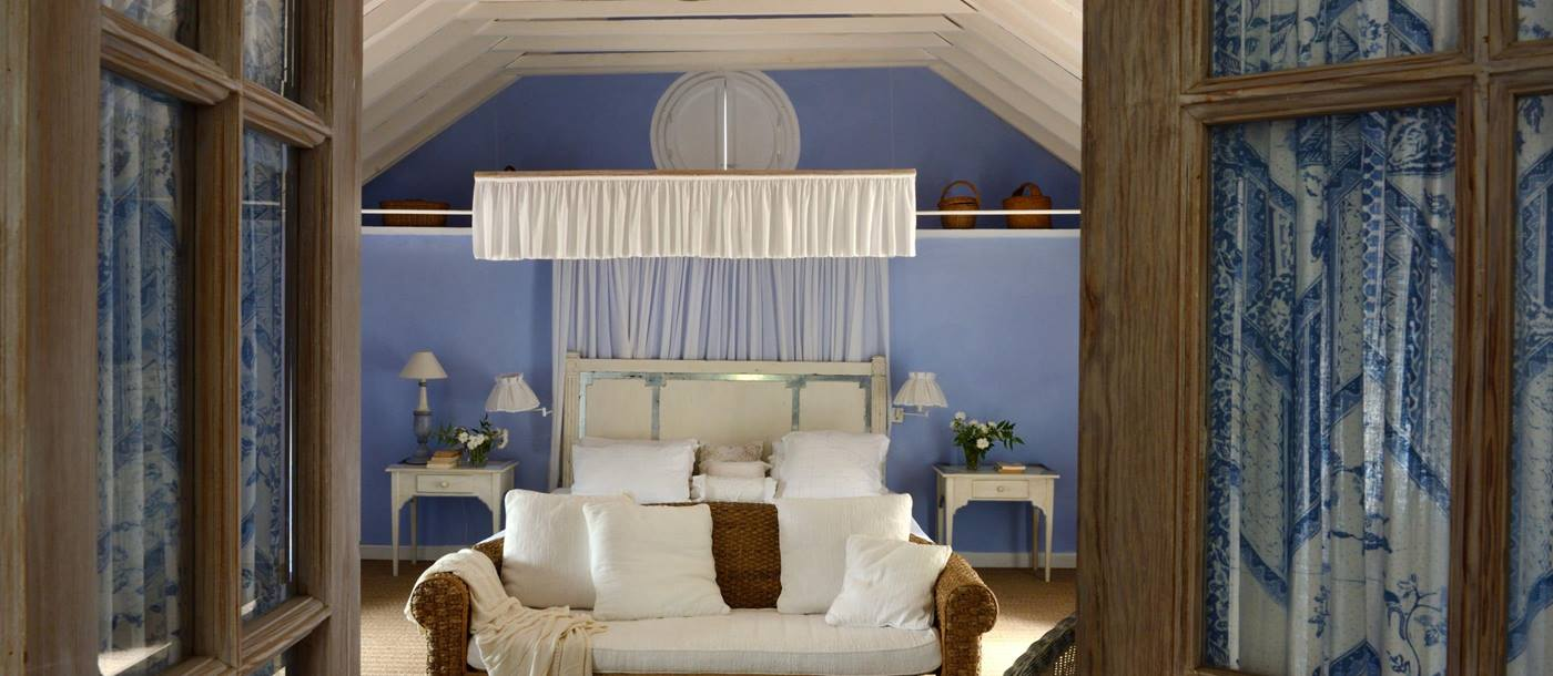 The blue bedroom of El Molino, Andalucia