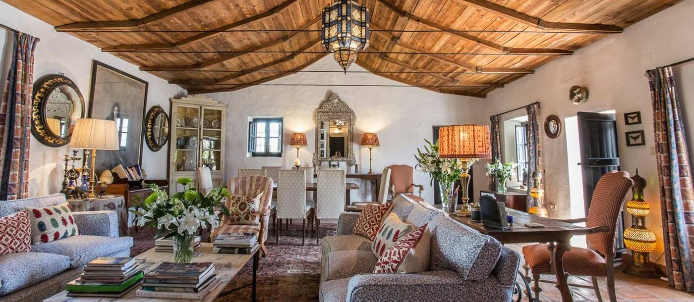 the living room at finca torillo