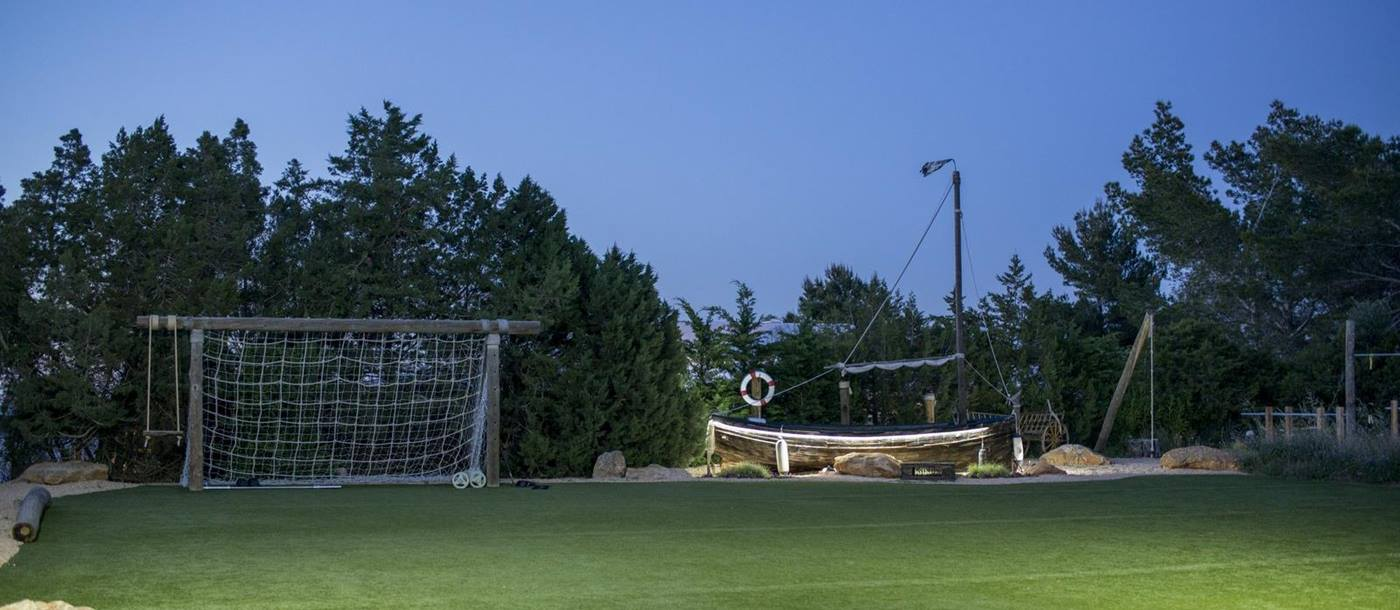 Football pitch at Can Bassa, Ibiza