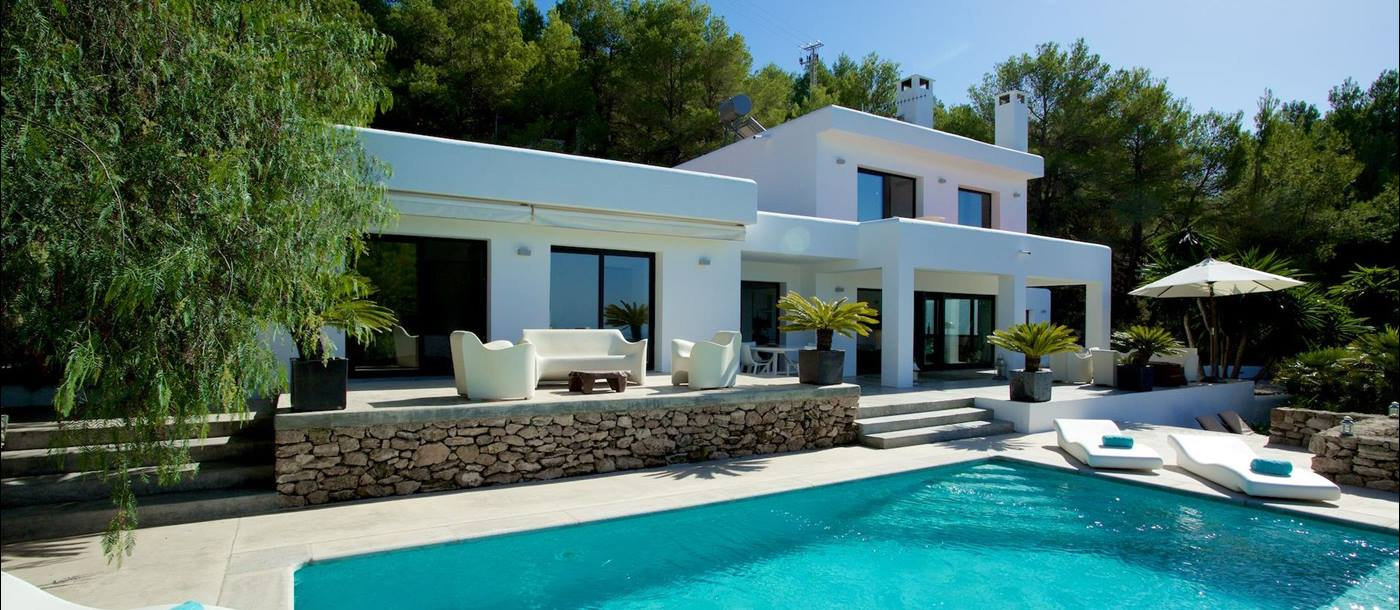 The pool at Villa Blanca, Ibiza