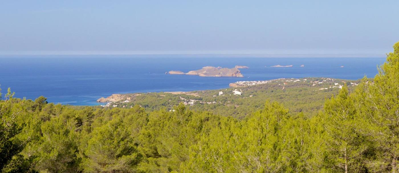 The views from Villa Blanca in Ibiza