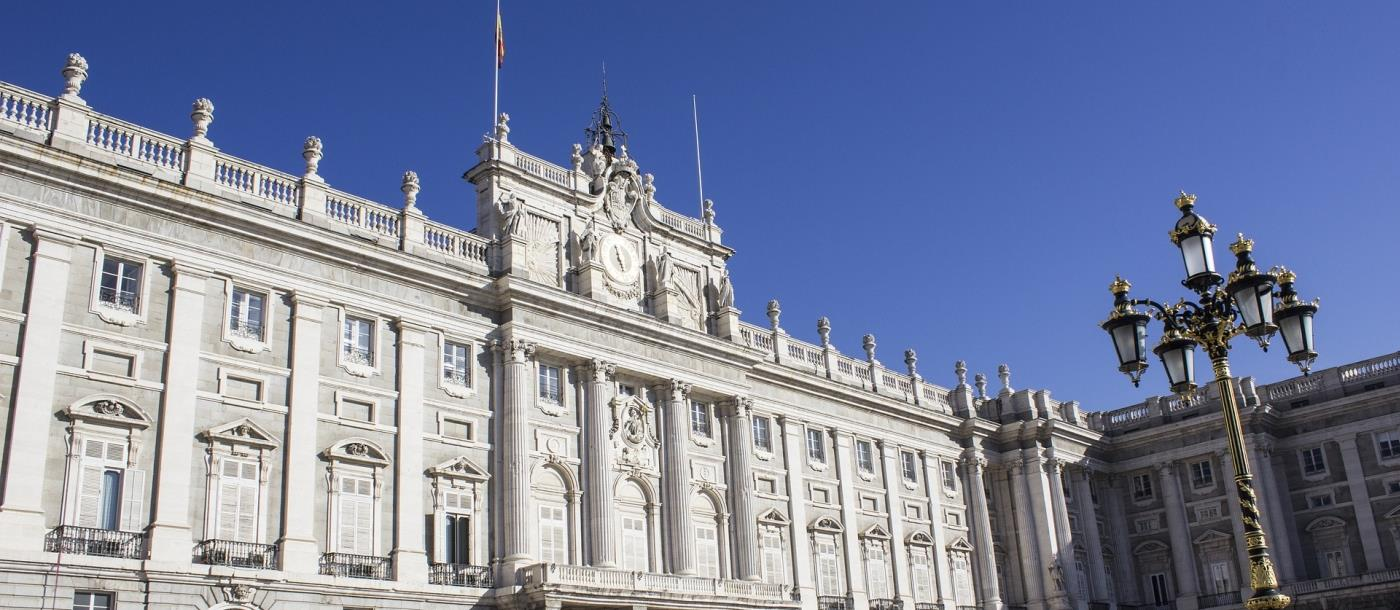 Royal Palace in Madrid Spain