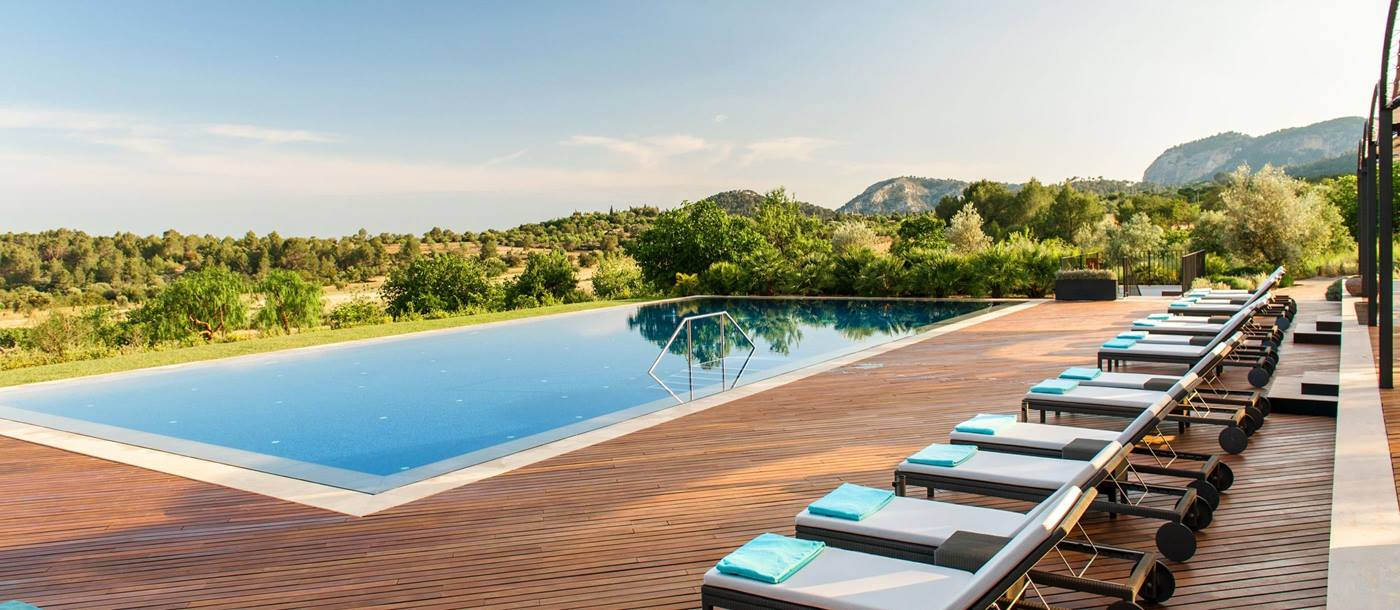 Swimming pool of Castell son Claret, Mallorca