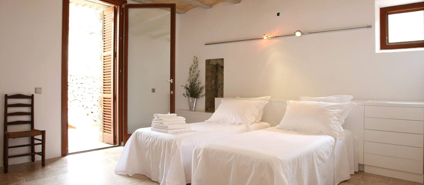 Twin bedroom in La Finca, Mallorca
