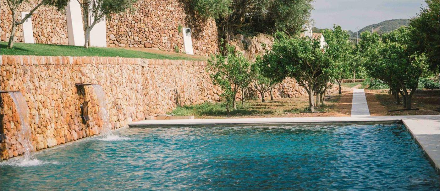 The pool at Finca Establo